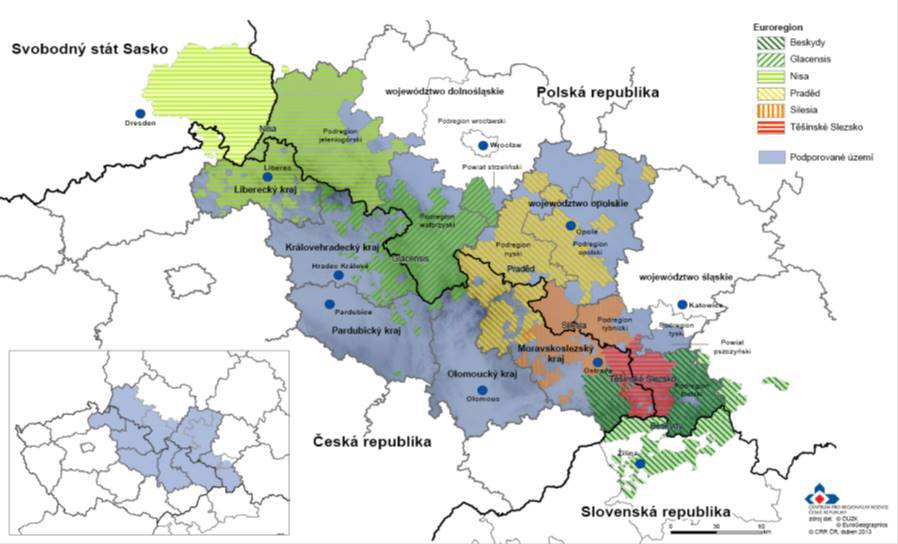 Dotační území OP CZ-PL